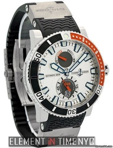Ulysse Nardin Maxi Marine Diver Power Reserve Titanium 45mm Ref. 263-90-7m/91 Price On Request