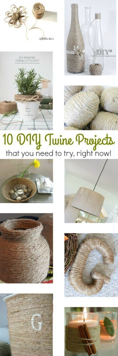 Does anyone else have a slight obsession with twine, lately?! I love it! You can basically take any object, one that you don't especially care for, wrap it in twine, and get a whole new look! It's really like one of the easiest and least expensive décor hacks out there…