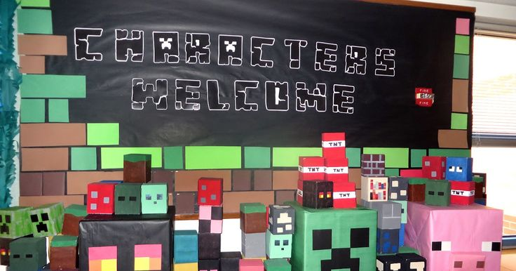 Margo the Librarian: Minecraft Bulletin Board