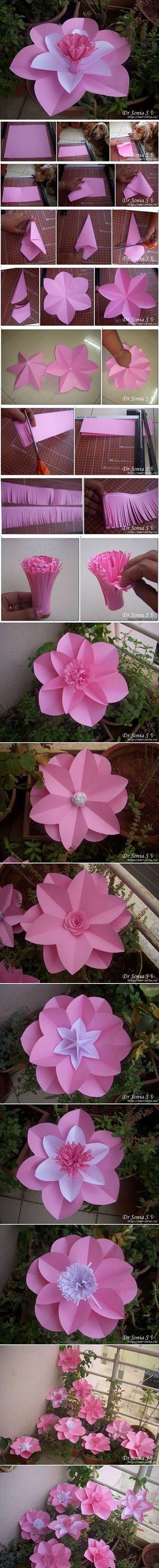 Diy Beautiful Pink Flower | DIY & Crafts Tutorials