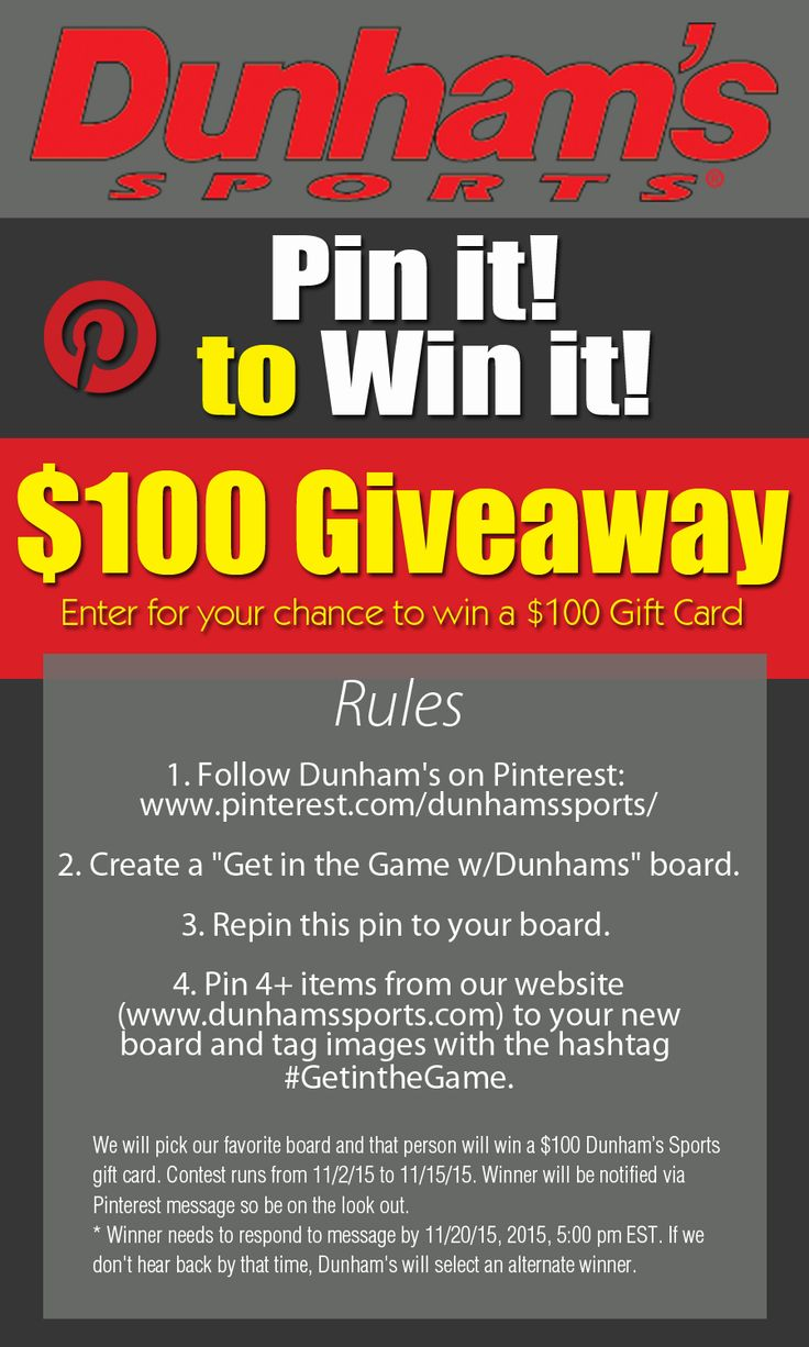 Pin it to Win It Sweepstakes! SWEEPS IS NOW CLOSED.