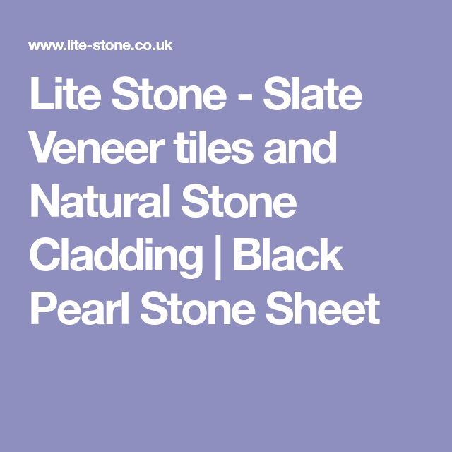 Lite Stone - Slate Veneer tiles and Natural Stone Cladding | Black Pearl Stone Sheet