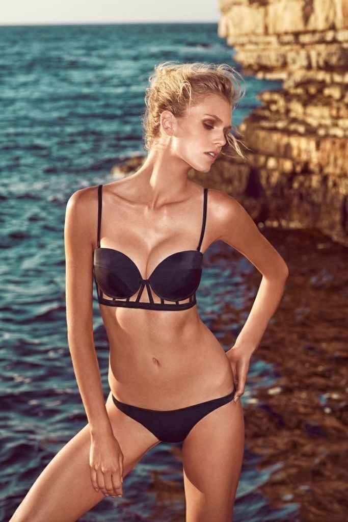 Sexy black bikini Laurel by Moeva 2015 for $280. Buy it here: http://justbestylish.com/10-hottest-swimsuits-to-heat-up-your-honeymoon/4/