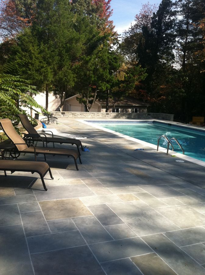 Check Out This Amazing Stamped And Stained Concrete Pool Deck! Acquire  Beautiful And Affordable Outdoor