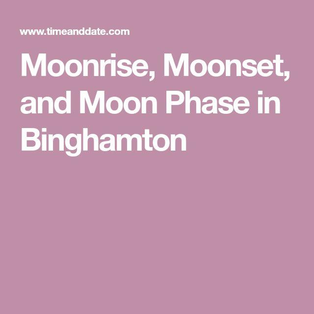 Moonrise, Moonset, and Moon Phase in Binghamton