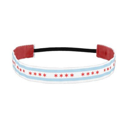 Non-Slip Headband with Flag of Chicago USA - stylish gifts unique cool diy customize
