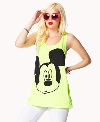 Mickey Mouse® Neon Tank | FOREVER21 - 2052287778
