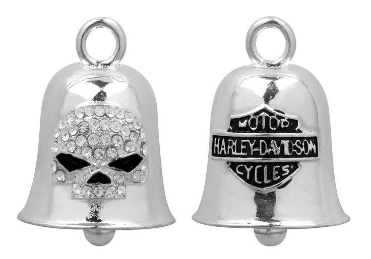 Harley-Davidson® White Crystal Willie G.® Skull Ride Bell