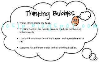 L.C., SLP: Shaping Social Behaviors : Thinking vs. Talking Bubbles Part 1