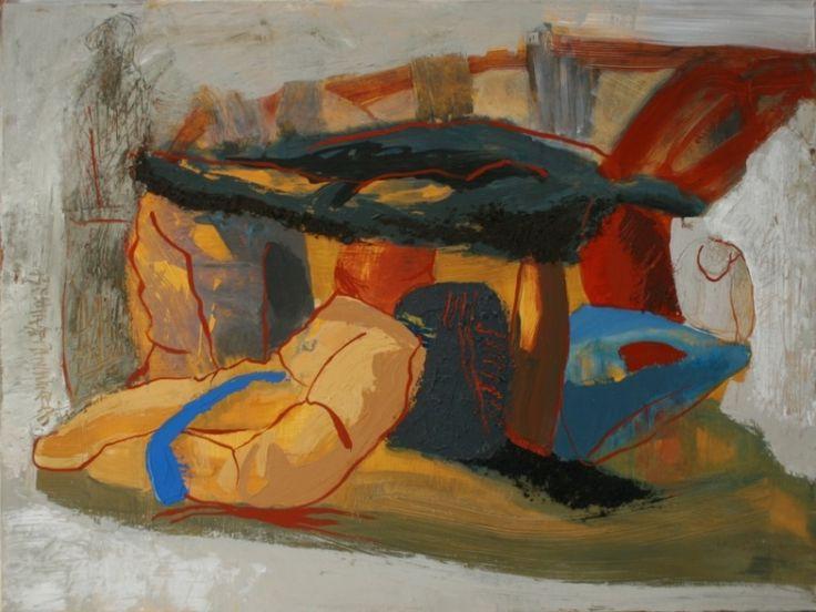 PROCESSION - Maia Stefana Oprea, acrilique sur toile, en savoir plus : http://www.maiaoprea.ro/fr/projets/2013/gaspillage-premiere-scene