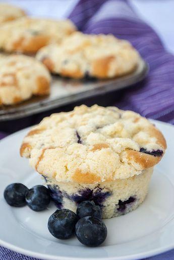 Heidelbeer-Muffins mit Streuseln - die besten die ich je gemacht habe