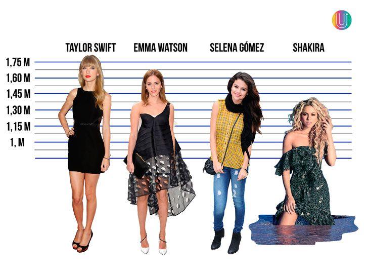 18 famosas que te demostrarán que la estatura es sólo números. Sabías cuánto mide Kim Kardashian?
