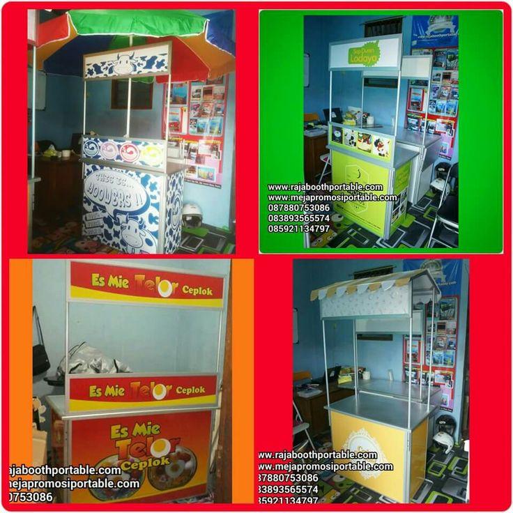 Gerobak portable ,gerobak lipat ,booth portable ,meja promosi untuk jualan makanan dan minuman www.rajaboothportable.com