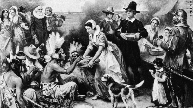 This is the picture after the ruling from European, They have send the culture of thanks giving to native Americans, And this is when they are celebrating the thanksgiving