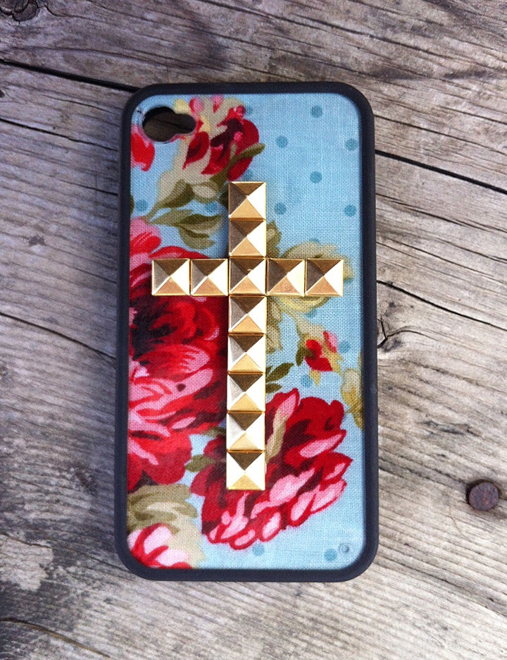 AHHH you will soon be mine <3_<3 just ordered this beauty super excited #wildflowerlove: Iphone Cases, Gold Crosses, Wildflowers Cases, Floral Gold, Phones Cases, Phones Accessories, Iphone 4 Cases, Blue Floral, Crosses Iphone