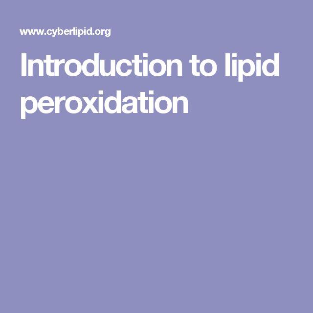 Introduction to lipid peroxidation