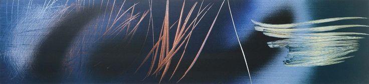 Hans HARTUNG (1904-1989)  T.1962-U28 acrilico su tela, cm 58x250 certificato di autenticità della Fondazione Hans Hartung et Anna-Eva Bergman n. 2729 - Cambi Casa d'Aste Srl - 28/04/2015