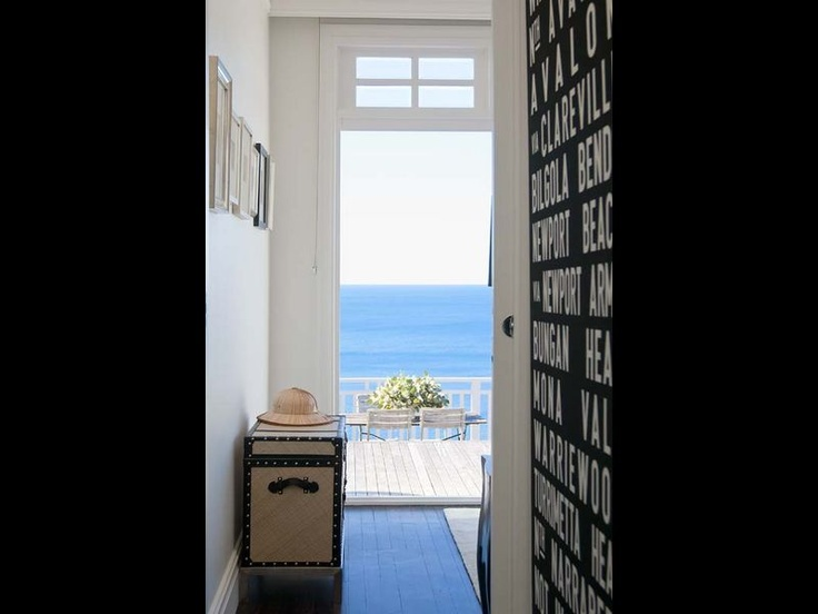 Your tram board artwork fits in with Hamptons style. You could also bring your chest into this room from your bedroom.