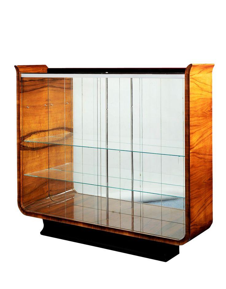 Halabala Jindřich, Czechoslovakia, display case from Tulipán set, walnut, 1930 - 1939, restored