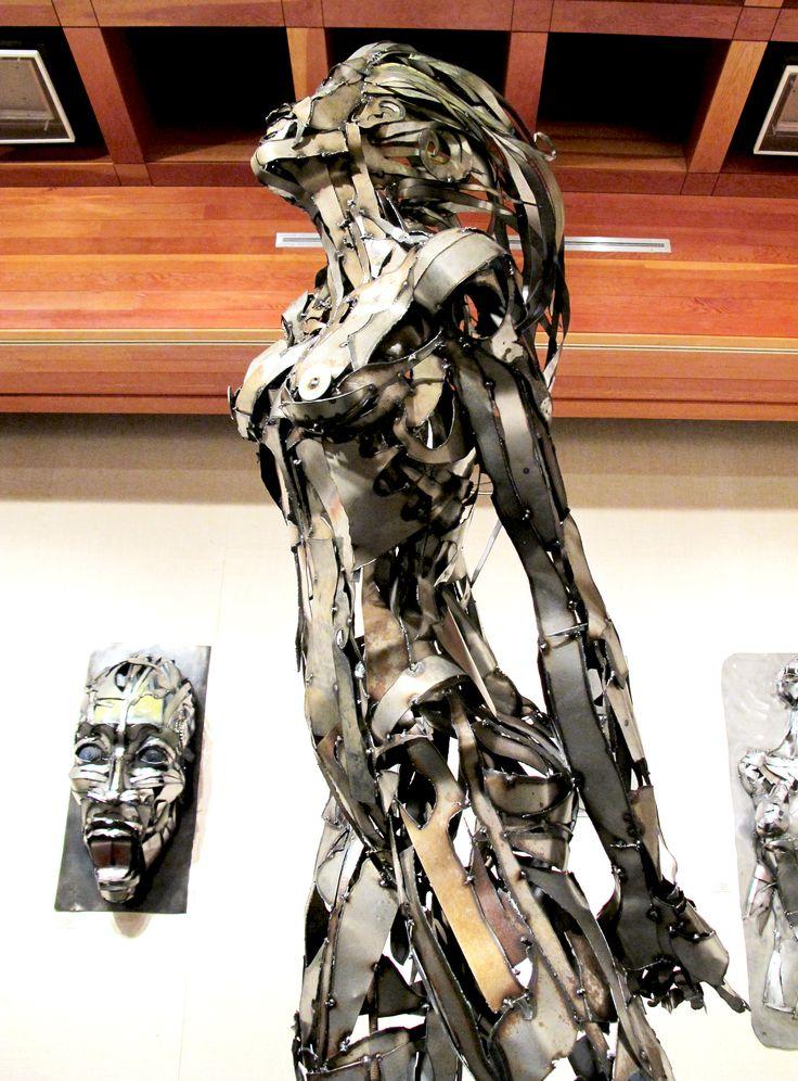 Woman Metal Art Sculpture, created by Joel Sullivan of Iron Designs in Nova Scotia / SOLD Irondesigns@live.ca