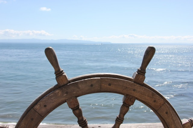 Horizon from the helm.