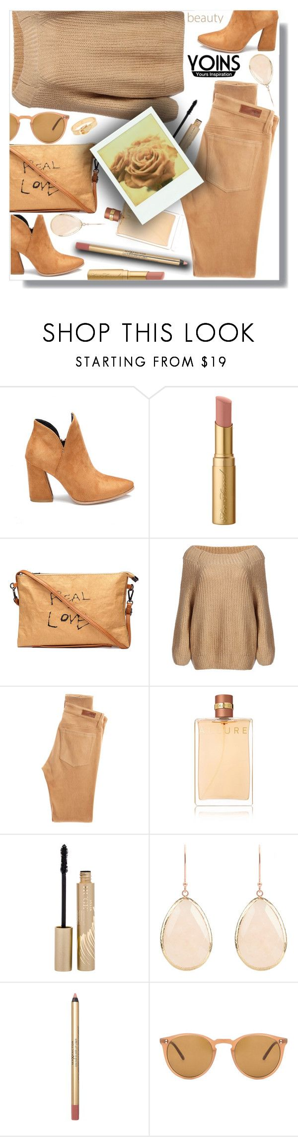 """""""YOINS #30"""" by sarahguo ❤ liked on Polyvore featuring Too Faced Cosmetics, AG Adriano Goldschmied, Chanel, Stila, Polaroid, Oliver Peoples, yoins, yoinscollection and loveyoins"""