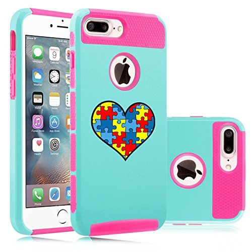 Apple iPhone (7 Plus) Shockproof Impact Hard Soft Case Cover Heart Puzzle Autism Color (Light Blue-Hot Pink) Apple iPhone (7 Plus) Shockproof Impact Hard Soft Case Cover Heart Puzzle Autism ColorDual layer, 2 piece caseHigh quality hard plastic outer shell wi...  #Apple #Autism #AutismAwareness #AutismHour #AutismInMyLife #AutismParents #AutismTMI #Autistic #BlueHot #Case #Color #Cover #Hard #Heart #Impact #iPhone #Light #Pink #Puzzle #Shockproof #Soft