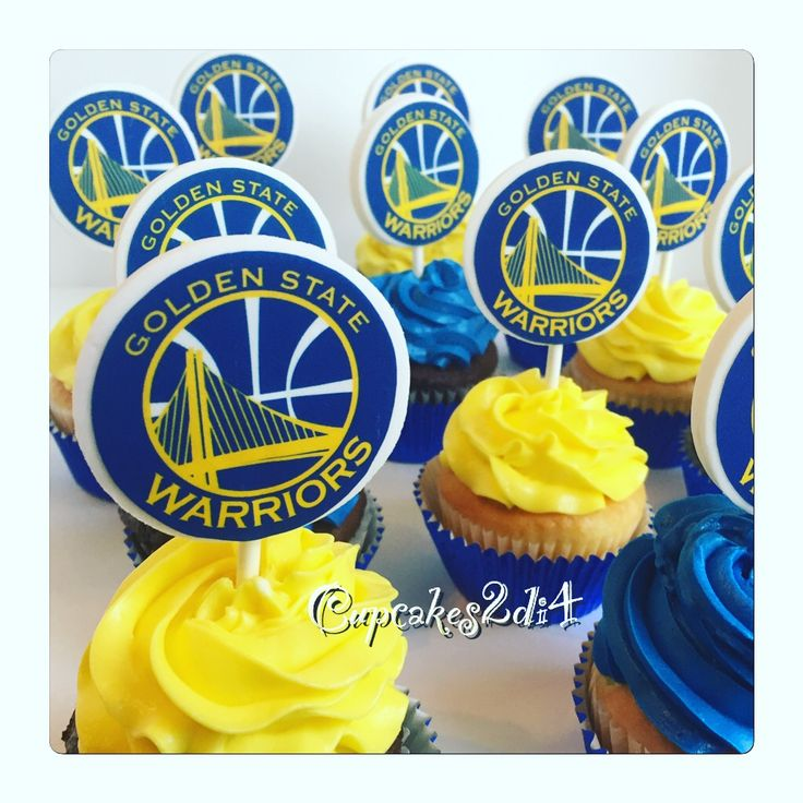 Birthday Cupcakes Golden State Warriors by Cupcakes2di4