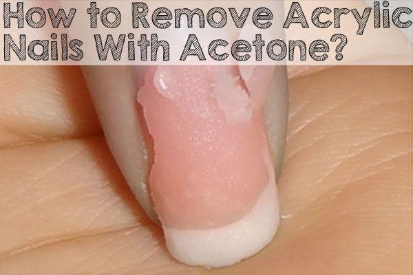 Como quitar uñas acrílicas con acetona.
