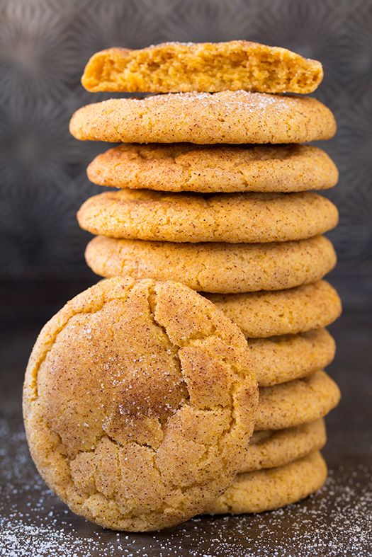 Two of the worlds best cookies in one! Pumpkin cookies meet snickerdoodles and they are out of...