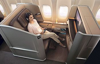 First class on Singapore Airways