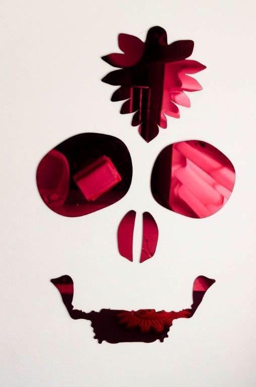 Negative skull Mirror