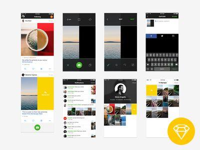 Resnap iOS App UI (Freebie)