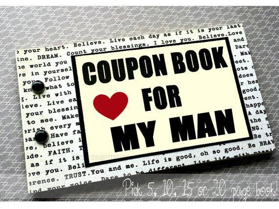 Carnet de coupons d'amour pour copain de mari. par LittleBlueMarket