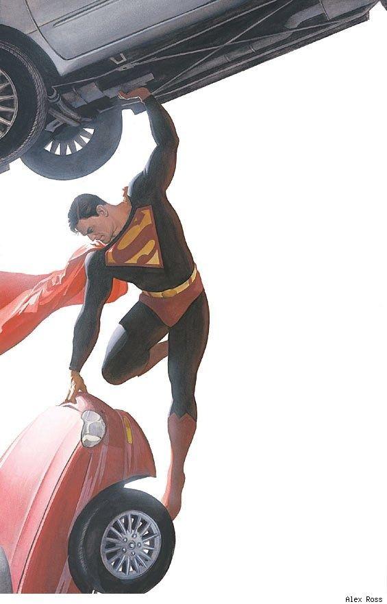 Superman Lifting Vehicles - Alex Ross