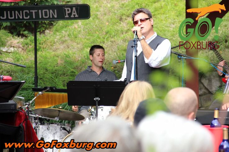 Local band Junction PA plays as patrons enjoy at Foxburg Wine Cellars' outdoor patio!