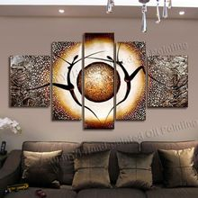 5 Panel Canvas Art  Hand Painted Abstract Dancer Oil Painting Cuadros…