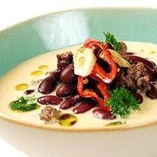 Värmande köttfärssoppa med bönor
