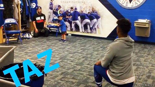 Tulo's son Taz playing baseball with Marcus Stroman & Devon Travis