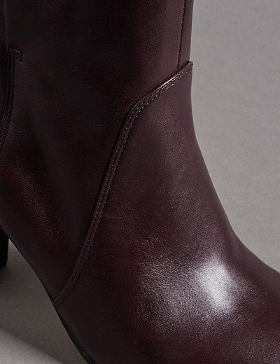 Leather Block Heel 👠 Ankle Boots 👢 | Marks & Spencer London