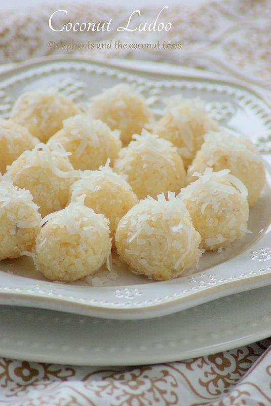 elephants and the coconut trees: Coconut laddu / 15 minutes Laddoo / Thengai laddu / Nariyal Ladoo / Easy Diwali Sweet #Diwalisweet #Ladoo
