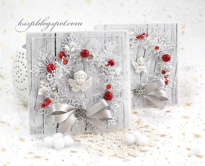 White with a little red (Wild Orchid Crafts)