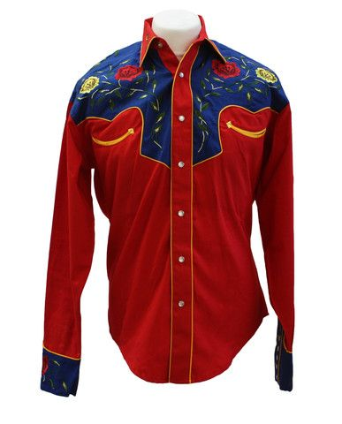 Rockmount 2-Tone Floral Red & Blue Western Cowboy Shirt  http://broncobills.co.uk/collections/brand-new/products/rockmount-2-tone-floral-red-blue-western-cowboy-shirt