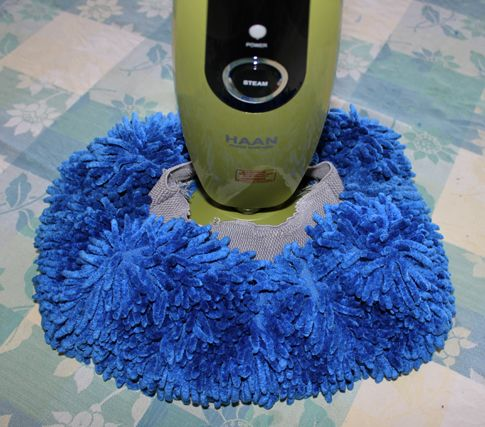 Make your own steam mop cleaning pad/cover out of a microfiber car wash mitt!  Replace those flat, stiff, non-absorbent pads.