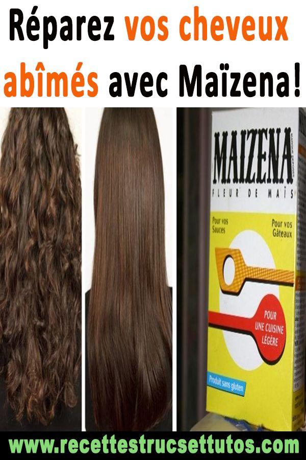 Réparez vos cheveux abîmés avec Maïzena!#soincheveux#astucesdecheveux#beaut…