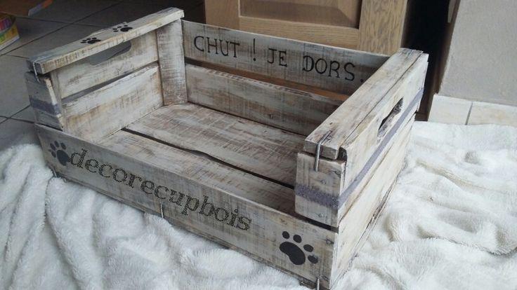 panier/niche pour petit chien ou chat personnalisable