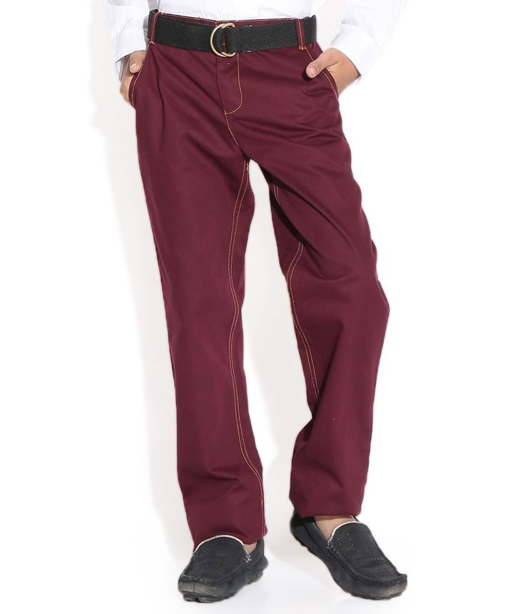 Shoppertree Maroon Color Twill Pant For Kids, http://www.snapdeal.com/product/shoppertree-maroon-color-twill-pant/1016179540