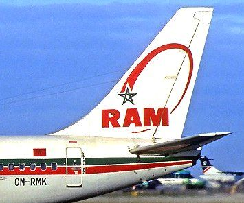 Royal Air Maroc B-737 tail