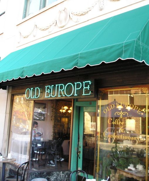 Old Europe Coffee Shop ... downtown on Broadway - Asheville, NC, USA  2006