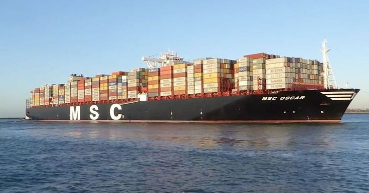"""mv """"MSC Oscar"""" calling the Port of Rotterdam on her maiden voyage (March 3rd, 2015) (Video)"""